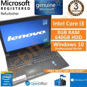 "Lenovo B5400, Core i3-4000M 2.4GHz, 8GB, 640GB, Windows 10 15.6"" Laptop"