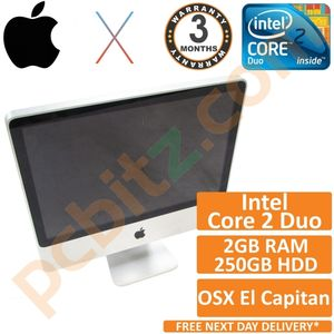 """Apple iMac 20"""" A1224 Mid 2007 C2D 2.0GHz 2GB 250GB El Capitan 10.11 (Grade B)"""