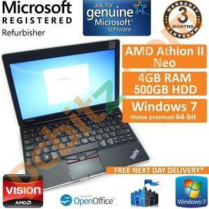 "Lenovo Thinkpad Edge 11, Athlon II Neo 1.7GHz, 4GB, 500GB, Win 7 11.6"" Laptop B"