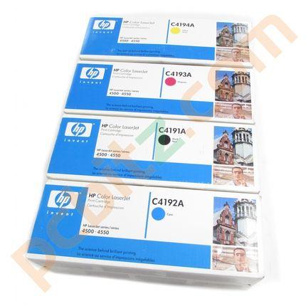 Genuine HP C4191A C4192A C4193A C4194A Set of Toners (CYMK)