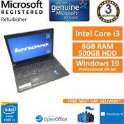"Lenovo B5400, Core i3-4000M 2.4GHz, 8GB, 500GB, Windows 10 15.6"" Laptop"