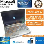 """HP EliteBook 8770w, Core i7-3630QM, 16GB, 120GB SSD+750GB, Win 10, 17.3"""" Laptop"""