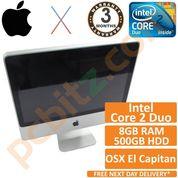 """Apple iMac A1224 20"""" Mid 2009 C2D 2GHz, 8GB, 500GB, El Capitan 10.11.6 (No BT)"""