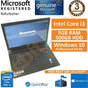 Lenovo B50-70 80EU, Intel Core i3-4010u 1.7GHz, 8GB, 500GB, Win 10 15.6 Laptop