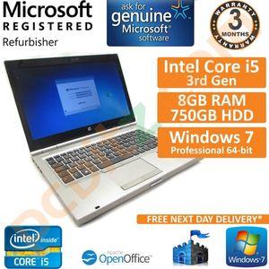 """HP EliteBook 8470p, Core i5 2.5GHz, 8GB, 750GB, Windows 7 Pro 14"""" Laptop"""