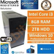 Dell Optiplex 3020 Intel i3-4160 3.60GHz 8GB 2TB Windows 10 Desktop PC