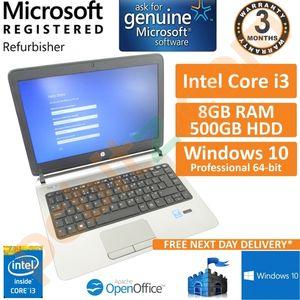 """HP ProBook 430 G2 Core i3-4030 1.9GHz 8GB 500GB Windows 10 Pro 13.3"""" Laptop"""