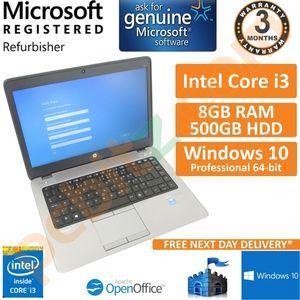 "HP EliteBook 740 G1 Core i3-4030u 1.9GHz 8GB 500GB Windows 10 Pro 14"" Laptop"