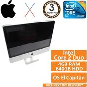 "Apple iMac 24"" A1225 Core 2 Duo 2.66GHz 4GB 640GB OSX El Capitan 10.11 (B)"