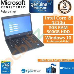 """Dell Latitude E5440, Core i5-4210U, 8GB RAM, 500GB HDD, Windows 10 14"""" Laptop"""