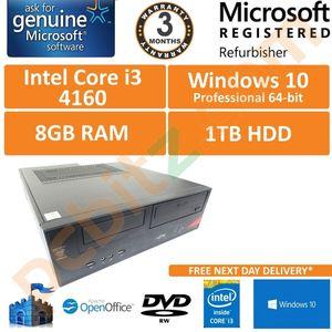 Fujitsu Esprimo E420 E85+ i3-4160 @ 3.60GHz 8GB 1TB Win 10 Pro