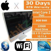 """Apple iMac A1224 20"""" C2D 2.66GHz 8GB 320GB Early 2009 El Capitan 10.11.6 B"""