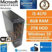 Dell Optiplex 3020, Core i5-4570 (4th Gen) 3.2GHz 8GB 2TB Windows 10 Desktop PC
