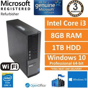 Dell Optiplex 3020 SFF, Core i3-4160 3.6GHz, 8GB, 1TB, Win 10 Pro Desktop PC (C)
