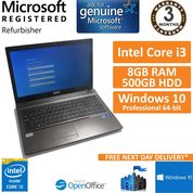 "Stone NT310-H (W550SU) Core i3-4100M 2.5GHz, 8GB, 500GB, Win 10 Pro 15.6"" Laptop"
