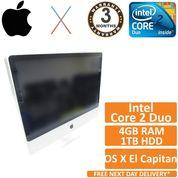 "Apple iMac 24"" A1225 EMC 2134 C2D 3.06GHz 4GB 1TB OSX El Capitan 10.11.6"