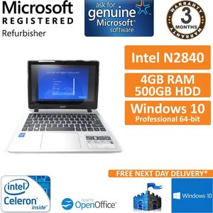 """Acer Aspire V11 Touch Intel N2840 2.16GHz 4GB 500GB 11.6"""" Win 10 Laptop"""