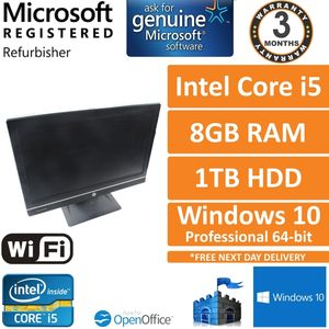 HP Compaq 8300 Elite Core i5-3570 3.4GHz, 8GB, 1TB HDD Windows 10 Pro AIO PC