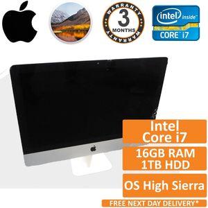 """Apple iMac 21.5"""" A1418 2012 Intel i7 3.10GHz 16GB 1TB High Sierra PC"""