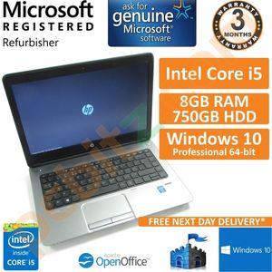 """HP ProBook 640 G1, Core i5-4210M 2.6GHz, 8GB, 750GB, Windows 10 Pro 14"""" Laptop"""