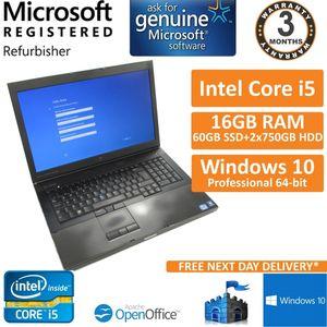 Dell Precision M6600 Core i5 2520M 2.5GHz 16GB 60GB SSD +2x750GB HDD 17.3 Laptop
