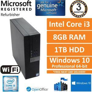 Dell Optiplex 3040 i3-6100 @ 3.70GHz, 8GB Ram,1TB, Windows 10 Pro Small PC