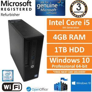 HP ProDesk 400 G3 SFF Intel Core i5-6500 3.2GHz 4GB 1TB Windows 10 Pro Desktop