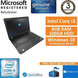 Lenovo ThinkPad E560 Intel Core i3-6100U 2.3GHz 8GB 500GB Windows 10 Laptop
