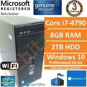 HP ProDesk 490 G1 MT Intel Core i7-4770 @ 3.40GHz 16GB 1TB Windows 10 Pro