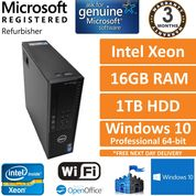 Dell Precision T1700 Xeon E3-1240 v3 3.4GHz 16GB, 1TB, Nvidia, Win10 Pro SFF PC