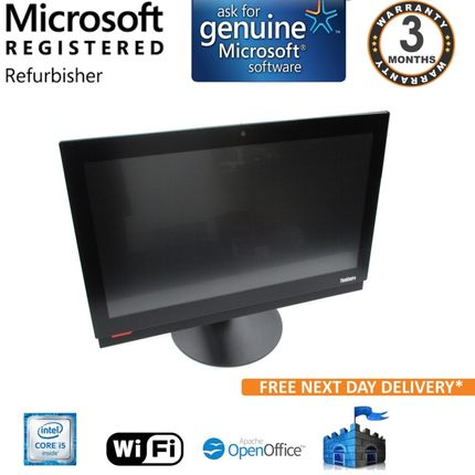 "Lenovo Thinkcentre M800z i5-6400 2.7Ghz 8GB 1TB Win10 Pro 21.5"" FHD Touch AIO"