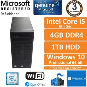 HP 280 G2 MT, Intel Core i5-6500 3.2GHz 4GB 1TB Windows 10 Pro Desktop PC