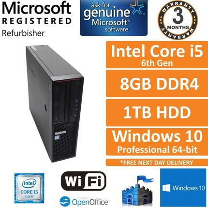 Lenovo ThinkStation P310 Intel Core i5-6500 3.2GHz 8GB 1TB Win10 Pro Desktop