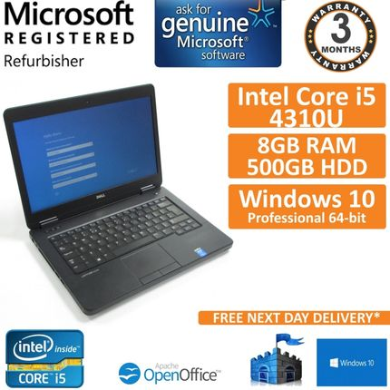 "Dell Latitude E5440, Core i5-4310U @ 2GHz, 500GB, 8GB, Windows 10 14"" Laptop (B)"