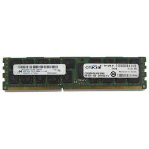 16GB (2 x 8GB) Micron MT36KSF1G72PZ-1G6M1FF PC3L-12800R Registered Server Memory
