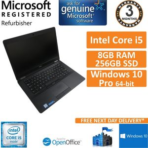 "Dell Latitude E7470 14"" 1080p Core i5-6300U 2.4GHz 8GB DDR4 256GB SSD Win 10 (B)"