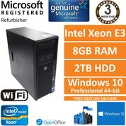 HP Z210 Workstation Xeon E3-1225 3.1GHz 8GB 2TB HDD Wi-Fi Quadro 2000 Win 10 Pro