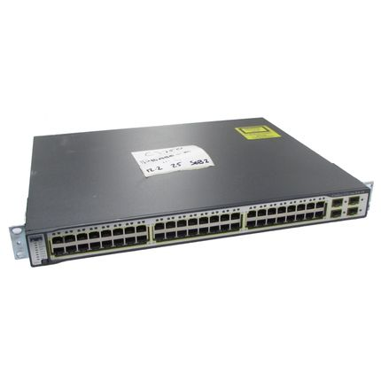 Cisco Catalyst WS-C3750-48PS-E 48-Port L3 Managed Switch with POE