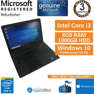 "Dell Latitude 3550, Core i3-5005U 2GHz, 8GB, 1000GB, Windows 10 15.6"" Laptop (B)"