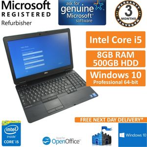 "Dell Latitude E6540 Intel i5-4310M 8GB 500GB 15.6"" Win 10 Pro Laptop (B)"