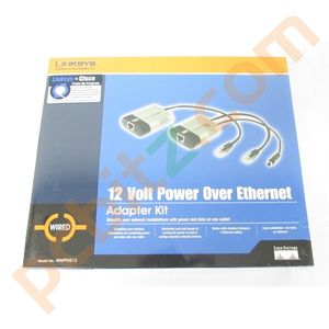 Linksys 12 Volt Power Over Ethernet Adapter Kit WAPPOE12 *SEALED*