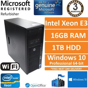 HP Z210 Workstation Xeon E3-1220 3.1GHz 16GB 1TB Quadro 2000 Windows 10 Desktop