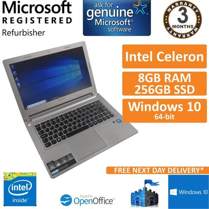 "Lenovo M30-70, Intel Celeron 2957u 1.4GHz, 8GB, 256GB, Win10 13.3"" Laptop"