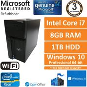 Dell Precision T1700, Core i7-4770 3.4GHz, 8GB, 1TB, Windows 10 Pro SFF PC