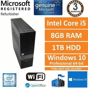 Dell Vostro 3250 i5-6400 @ 2.70GHz, 8GB, 1TB, Windows 10 Pro SFF