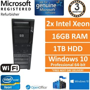 HP Z600 Workstation 2 x Xeon x5667 3.07GHz 16GB RAM 1TB HDD Quadro NVS 450 Win10