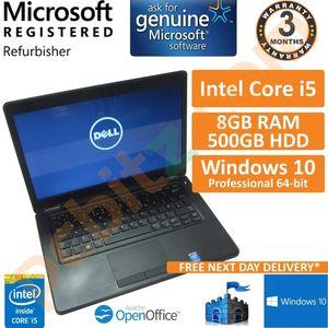 """Dell Latitude E5450, Core i5-5300U 2.3GHz, 500GB, 8GB DDR3 Win10 FHD 14"""" Laptop"""