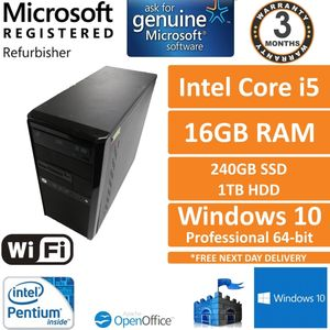 Custom PC i7-3770 @ 3.4GHz 16GB 512GB SSD 2TB HDD GTX 980Ti Win 10 PC