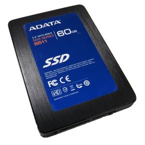 "ADATA S511 AS511S3-60GM 60GB 2.5"" SATA Solid State Hard Drive"