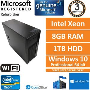 HP Z230, Intel Xeon E3-1246 v3 @ 3.5GHz, 8GB, 1TB, Win 10 Pro Workstation